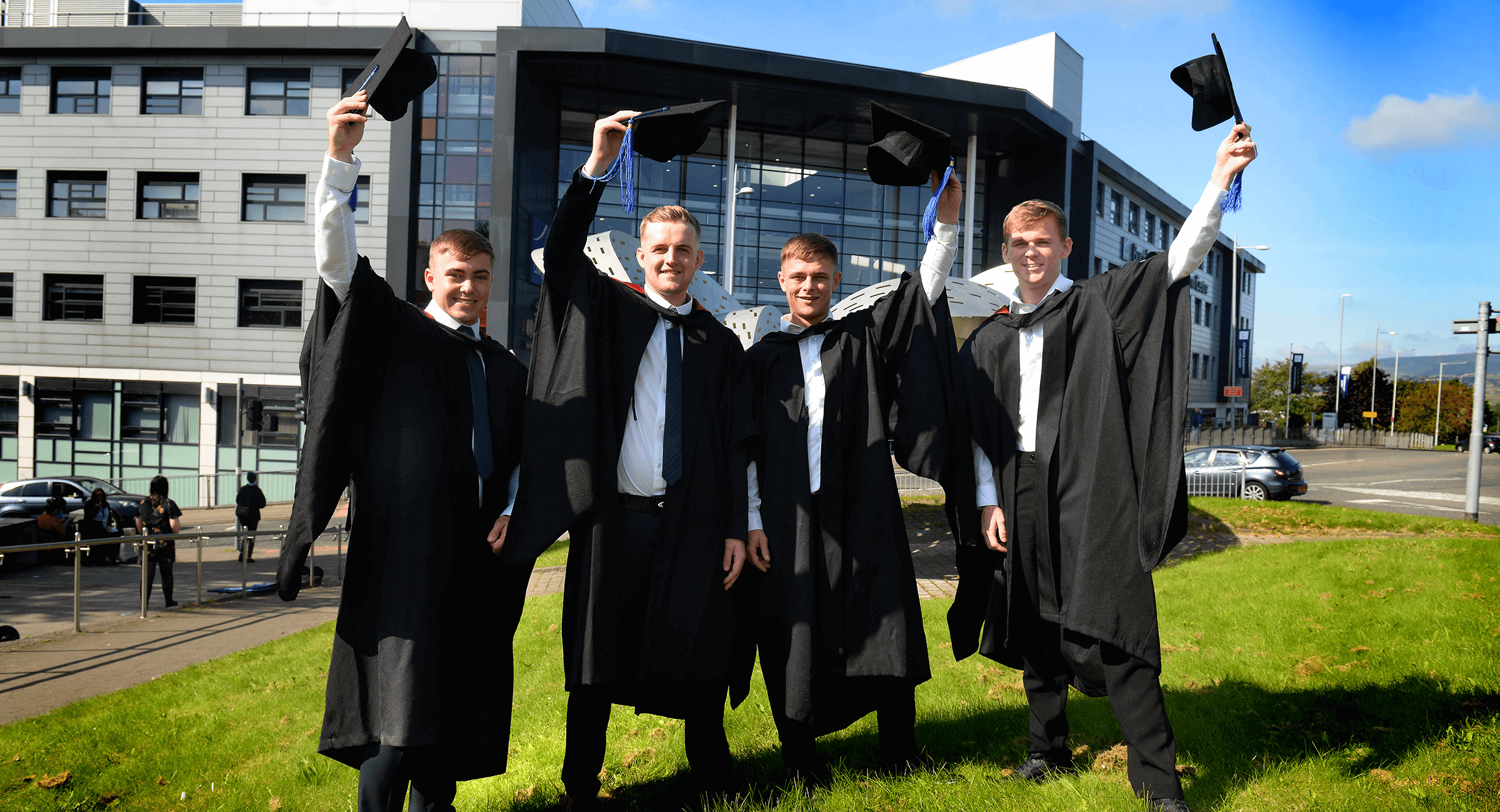 Group of University Courses Burnley engineering students graduating