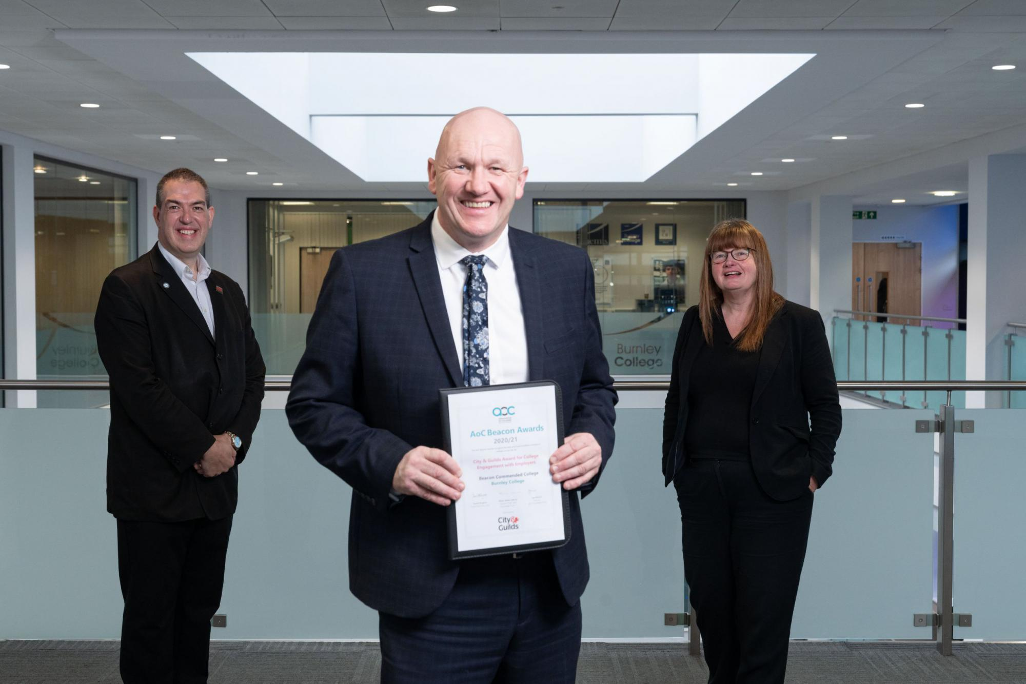 Burnley COllege Beacon Award finalist